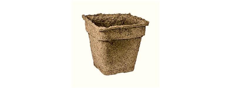 CowPots – pots à planter carrés de 6 po – 6 unités