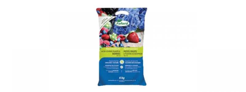 Engrais naturel pour petits fruits et plantes acidophiles ( 4-1-4 ) - 6 kg