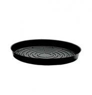 Soucoupe noire vinyle pour plantes - 16''