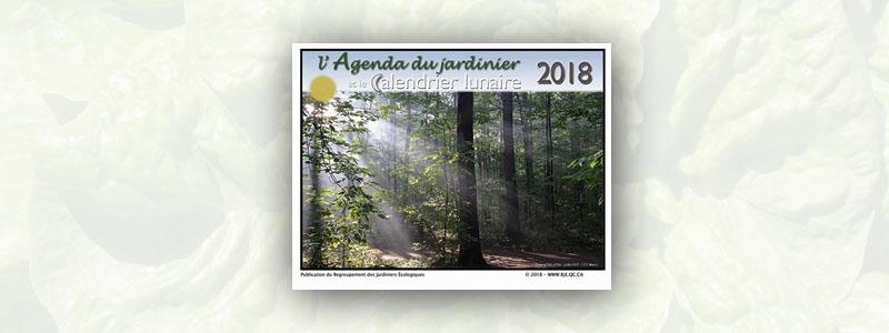 Agenda du jardinier et calendrier lunaire 2018