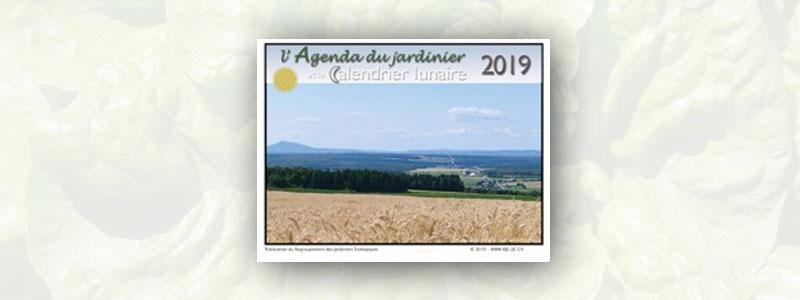 Agenda du jardinier et calendrier lunaire 2019