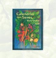Librairie Calendrier des semis 2019 Biodynamique