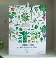 Calendrier 2019 des fruits et légumes du Québec - Laucolo (blanc)